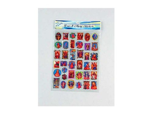 48 Pack of jesus & mary stickers
