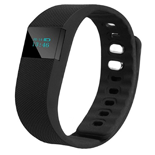 Lookatool Smart Wrist Band Sleep Sports Fitness Activity Tracker Pedometer Bracelet Watch, Black