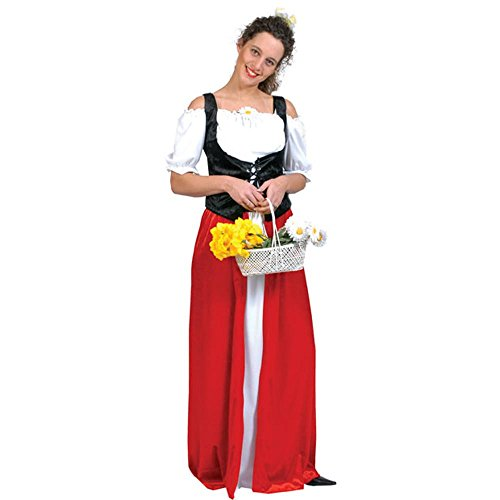 Adult Bavarian Dress Halloween Costume (Size: 12)