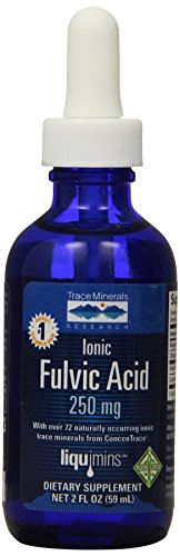 Trace Minerals Research IOFA01 - Liquid Ionic Fulvic Acid with Concentrace Supplement, 0.3 lb