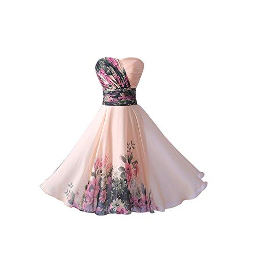 CHENGYANG-Elegantes-Floral-Sin-Tirantes-Vestidos-Cortos-De-Fiesta-Partido-Para-Mujer