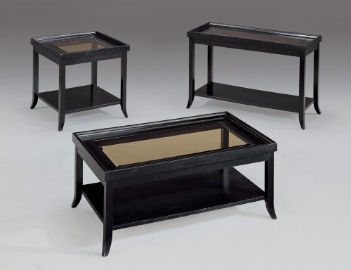 Somerton Home 137-04 Boulevard Cocktail Coffee Table, Soft Black