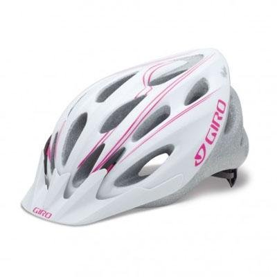 Giro Women's Skyla Bike Helmet (White/Magenta Simple Lines, Universal Fit) Cycle Gear, Bicycling, Bike, Cycling, Bicycle by SPORT4U