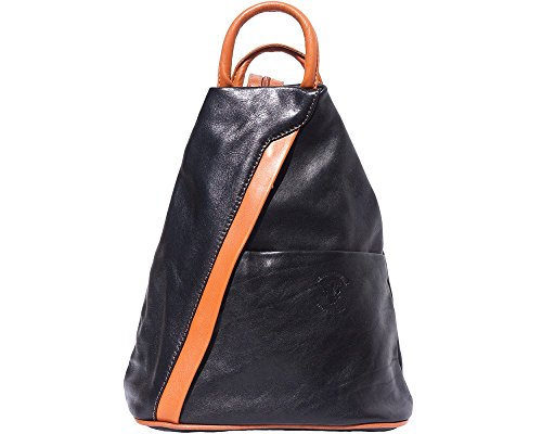 LaGaksta Submedium Italian Leather Backpack Purse and Shoulder Bag