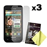 Three LCD Screen Guards / Protectors for Samsung Fascinate / Mesmerize / SCH-I500