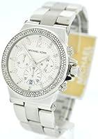 Michael Kors MK5385 Silver Tone Crystal Glitz Chronograph Womens Watch