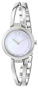 """Movado Women's 0606813 """"Amorosa"""" Stainless Steel Bracelet Watch"""