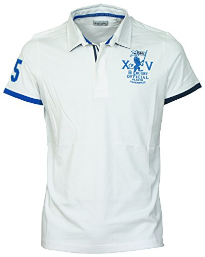 Serge blanco-Polo serge blanco XV, colore: bianco bianco XXXL