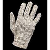 New Michael Jackson Costume White Silver Glitter Glove