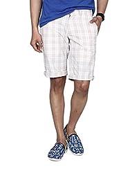 Hammock Men's Large Checked Bermuda Shorts - Beige/White (38), H21C03J50738