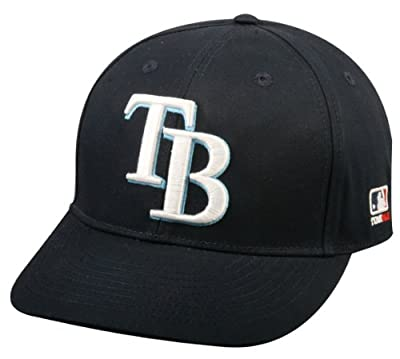 Tampa Bay Rays ADULT Adjustable Hat MLB Officially Licensed Major League Baseball Replica Ball Cap