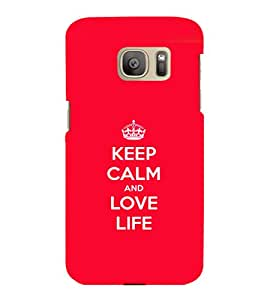 printtech Keep Calm Quotes Back Case Cover for Samsung Galaxy S7 edge :: Samsung Galaxy S7 edge Duos with dual-SIM card slots