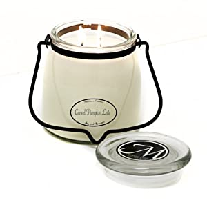 Milkhouse Candle Creamery Butter Jar Candle, Caramel Pumpkin Latte, 16-Ounce