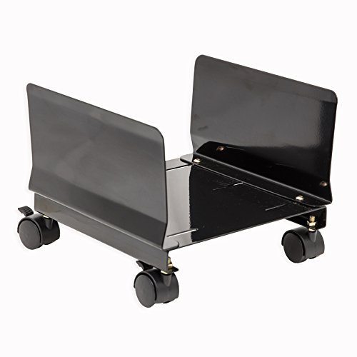 Syba-Steel-Computer-Stand-for-ATX-Case-with-Adjustable-Width-and-4-Caster-Wheels