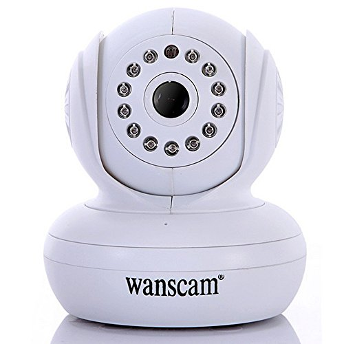 Wanscam Jw0004 Cmos 0.3Mp 3.6Mm Lens 13Led Night Vision P2P Outdoor Indoor Waterproof Wireless Network Ip Camera White