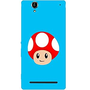 Casotec Mario Mushroom Design Hard Back Case Cover for Sony Xperia T2 Ultra