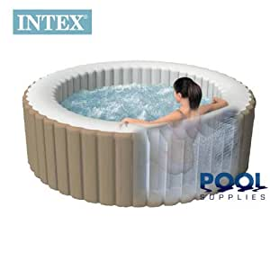 Intex pure spa deluxe inflatable 4 person portable spa hot for Piscine portable intex