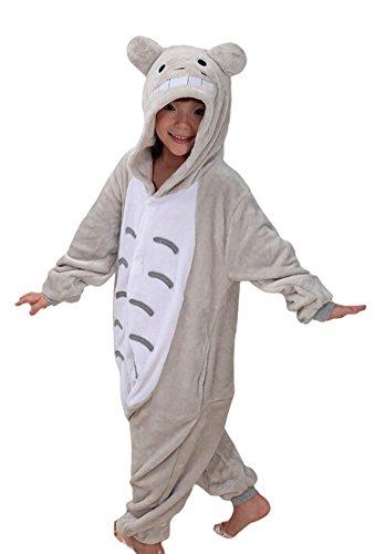 "Tonwhar Children'S Halloween Costumes Kids Kigurumi Onesie Animal Cosplay (115(Height:49.2""-53.14""), Totoro) front-102255"