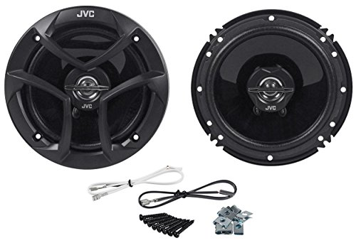 "Pair Csj620 Jvc 6.5"" Car Audio 2-Way Coaxial Speakers System (Black)"