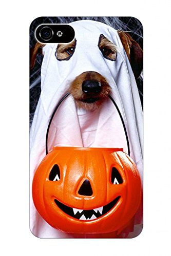 Hungo Dog In Costume Halloween Hallowmas Eve Of All Saint'S Day Theme Pattern Print Protective Protector Cover Sleeve Cases For Apple Iphone 5 5S 5G front-49394
