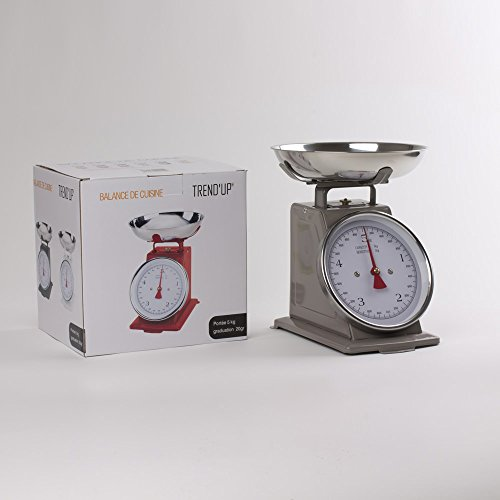 Bastide Diffusion - Balance de cuisine 5 kg couleur taupe