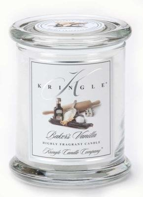 BAKERS VANILLA Medium Classic 50 Hour Apothecary Jar Candle by Kringle Candles