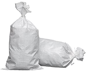 eSandbags - Empty Polypropylene Sand Bags w/Tie,Pack of 50
