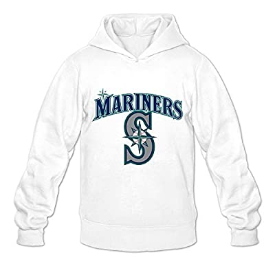 TWSY Men's Seattle Mariners Long Sleeve Hoodies White,100% Cotton