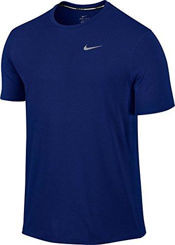 Nike Men's Dri-Fit Contour Short Sleeve - Small - Deep Royal Blue