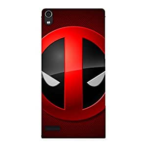 Impressive Dead Eye Round Red Back Case Cover for Ascend P6