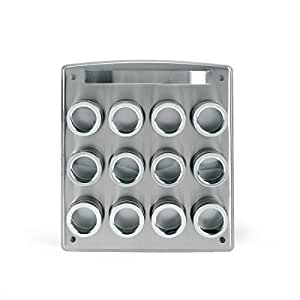 Kamenstein Magnetic 12-Tin Spice Rack with Free Spice Refills for 5 Years