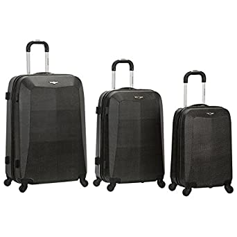Rockland 3 Piece Vision Polycarbonate Abs Luggage Set, Crocodile, One Size