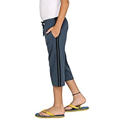 Clifton Boys Coloured Capri - Navy Melange - XX-Large (12-13 Years)