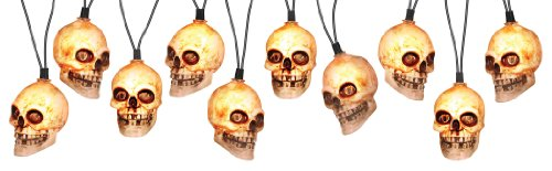 4' Skeleton Head Light String with Sound