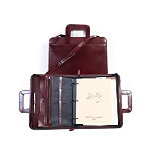 Scully Italian Leather Zip Binder With Drop Handles 96z-06 Color: Black