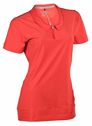 Nike Women's Novelty Collar Polo - Medium - LT Crimson/Silver