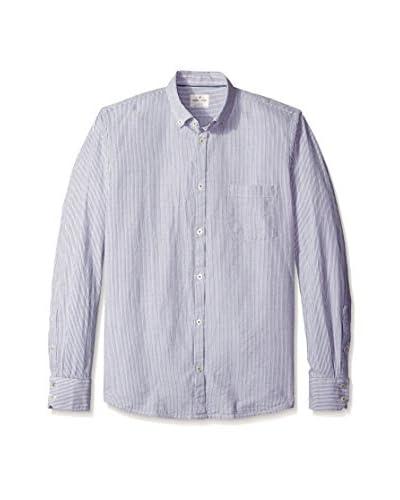 Color Siete Men's Long Sleeve Jones Seersucker Striped Shirt