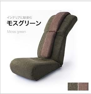 波多野式骨盤ストレッチチェア グリーン×ブラウン(ストレッチ用ポール内蔵ストレッチ座椅子)