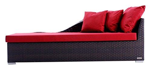 Outflexx Möbel Outdoor Chaiselongue Polyrattan w3, braun günstig bestellen