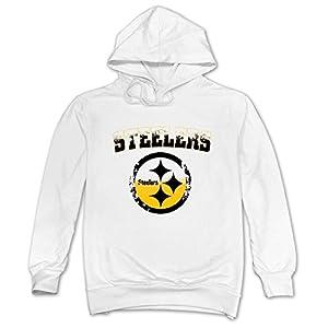 PYLV Man Youth Pittsburgh Steelers White Hoodie