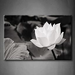 Modern Home Decoration painting White Lotus In Basin The Picture Print On Canvas Flower Pictures