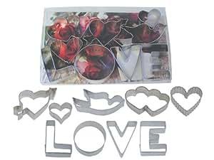 R & M Love 9 Piece Cookie Cutter Set