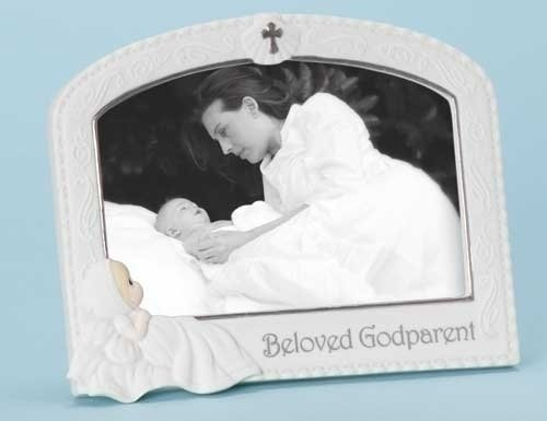 "Pack Of 2 Precious Moments Religious Baptism Godparent Photo Frames 4"" X 6"""