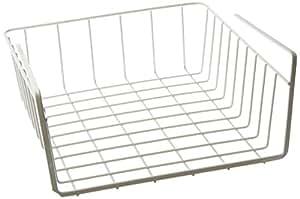 Decobros under shelf basket wrap rack white for Under shelf basket wrap rack
