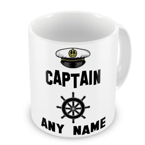 Personalised-Captain-Any-Name-Novelty-Gift-Mug-Narrowboat-Canal-Boat-Ship-Barge
