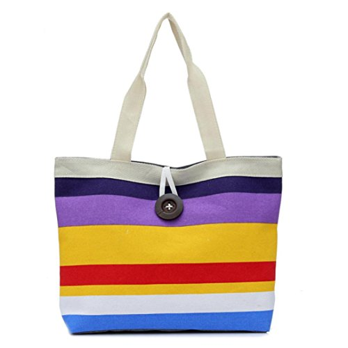 Lowest Price! Creazy® Fashion Lady Shopping Handbag Shoulder Canvas Bag Tote Purse Messenger (Purpl...