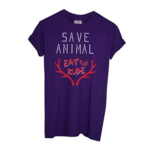 T-Shirt HANNIBAL EAT THE RUDE - FILM by Mush Dress Your Style - Uomo-XXL-Viola