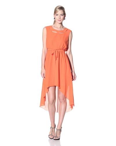 Jessica Simpson Women's Solid Hi-Low Dress with Self Tie