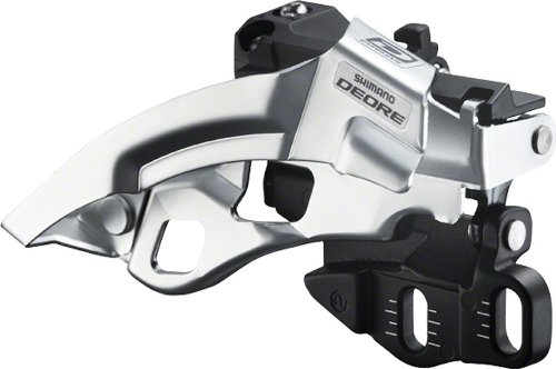 Shimano FD-M610 Top Swing 3x10-Speed E2 Direct Mount Deore Front Derailleur, Black