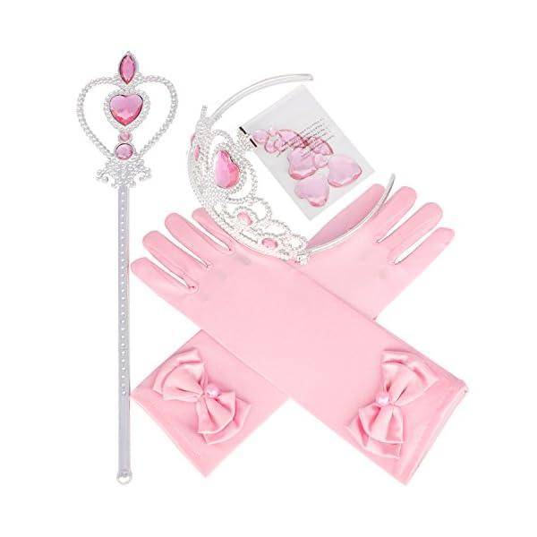 23a262a56 3-6 Year Old Princess Crown + Magic Wand + Bow Gloves Pink set Dress Up kit